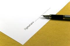 Firma imagen de archivo