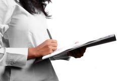Firma de un contrato Imagen de archivo libre de regalías