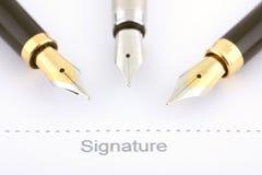 Firma del asunto imágenes de archivo libres de regalías