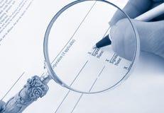Firma del asunto Imagenes de archivo