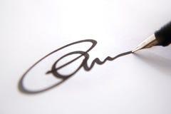 Firma del asunto - carta Fotografía de archivo libre de regalías