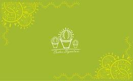 Firma del cactus Imagen de archivo libre de regalías