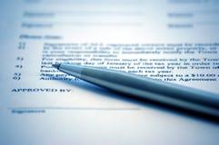 Firma del contrato Fotografía de archivo libre de regalías