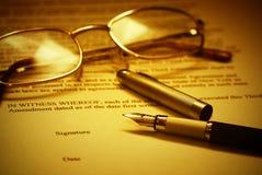 Firma del contrato Imágenes de archivo libres de regalías