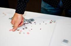 Firma del registro di matrimonio o del libro di ospite Fotografie Stock