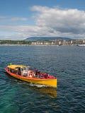 Firma der Schweiz Genf von traditionellen Läufen eine Seenavigation Stockfoto