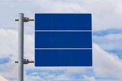 Firma el espacio en blanco azul Imagenes de archivo