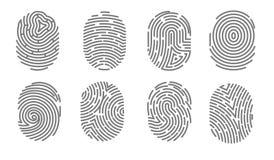 Firma electrónica de la huella dactilar del acceso de la seguridad del sistema humano de la autorización libre illustration