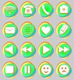 Firma la conexión, email, juego, pausa, teléfono, sistema de la comunicación libre illustration