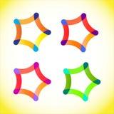 Firma loga projekt Kolorowy logo dla tw?j firmy ilustracja wektor