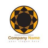Firma logo na bielu ilustracji