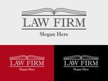 Firma Prawnicza, kancelaria prawna, prawnik usługa, Otwiera Książkowego Wektorowego loga szablon royalty ilustracja