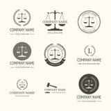 Firma prawnicza loga szablon etykietki ustawiają rocznika Zdjęcie Stock