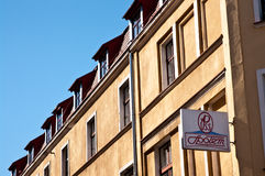 Firma PSS SPolem unterzeichnen herein Grudziadz Lizenzfreie Stockfotos