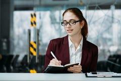 Firma recepcjonisty biznesowego biura workspace obrazy royalty free