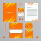 Firma stylu set w pomarańcze tonuje z białym przejrzystym gradientem w liniach Obrazy Royalty Free