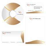 Firma-Visitenkarte - Briefkopfschablone Stockfotos