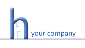 Firma-Zeichen - H machte zu ein Haus Lizenzfreies Stockbild