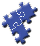Firma-Zeichen - Puzzlespiel Lizenzfreie Stockbilder