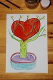 firmant Serce na drzewie zdjęcie stock