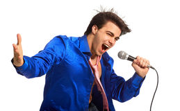 Firmante del Karaoke Fotos de archivo