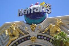 Firme adentro el frente del hotel y del casino de Harrah s Las Vegas Fotos de archivo libres de regalías