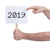Firme con un número - el año 2019 Imágenes de archivo libres de regalías