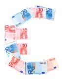 Firme en euro Imágenes de archivo libres de regalías
