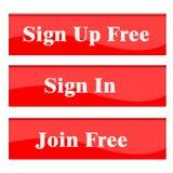 Firme para arriba el botón Foto de archivo libre de regalías