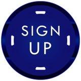 Firme para arriba el botón Fotos de archivo libres de regalías