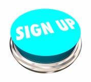 Firme para arriba el registro alistan se unen a nos botón de la palabra libre illustration
