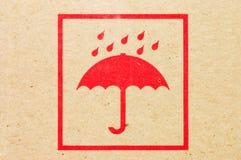 Firme un paraguas en un rectángulo Foto de archivo