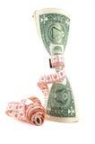 Firmemente presupuestando. Dinero vertical. foto de archivo libre de regalías