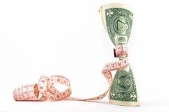 Firmemente presupuestando. Dinero vertical. fotografía de archivo