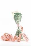 Firmemente presupuestando. Dinero vertical. Imagen de archivo libre de regalías