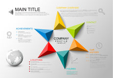 Firmenüberblickschablone Stockbild