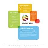 Firmen-infographic Überblick-Designschablone Lizenzfreie Stockfotografie