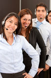 Firmenkunde-Stützteam Stockbilder
