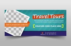 Firmenkundengeschäft-Fahnenschablone des Reiseausflugs, horizontaler Werbebranchefahnenplanschablonen-Zeichensatz, lizenzfreie stockfotos