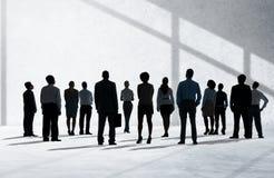 Firmenkundengeschäft Team Aspiration Looking herauf Konzept lizenzfreies stockfoto
