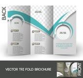 Firmenkundengeschäft-dreifachgefaltete Broschüre Stockbild