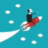 Firmenneugründungs-Vektorkonzept in der flachen Karikaturart Lizenzfreies Stockfoto