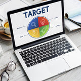 Firmenneugründungs-Unternehmer Strategy Target Concept Lizenzfreies Stockbild