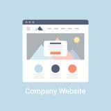 Firmenwebsite Wireframe Stockfoto