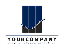 Firmenzeichen für irgendein beratengeschäft Lizenzfreie Stockbilder