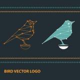 Firmenzeichen mit den geometrischen Vögeln gemacht von der Konstellation lizenzfreie abbildung