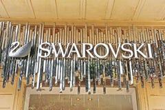 Firmenzeichen von Swarovski Stockbilder