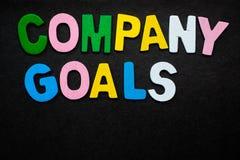 Firmenziele Lizenzfreies Stockfoto