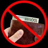 Firmi fermano la corruzione, non danno i doni isolati Fotografia Stock