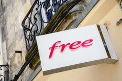 Firmi gratis, uno degli internet provider principali in Francia Immagini Stock Libere da Diritti